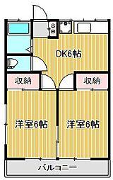 神奈川県川崎市中原区下小田中4丁目の賃貸アパートの間取り