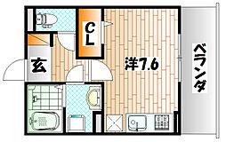 M・K・K北方[3階]の間取り
