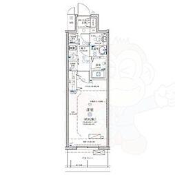名古屋市営鶴舞線 浅間町駅 徒歩7分の賃貸マンション 8階1Kの間取り