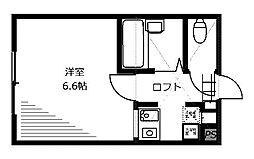 ミルブルック[1階]の間取り