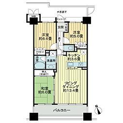 サーパス上野[9階]の間取り