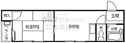 八尾木グリーンハイツ[3階]の間取り