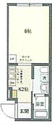 JR京浜東北・根岸線 鶯谷駅 徒歩6分の賃貸マンション 4階1Kの間取り
