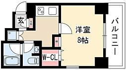 SJ Sakurayama 7階1Kの間取り