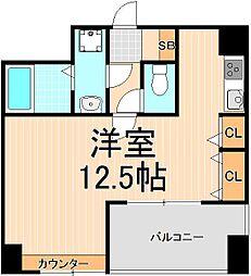 東京都台東区今戸2丁目の賃貸マンションの間取り