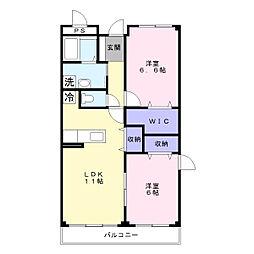 アンナ・ミーナ130ヒルズ[3階]の間取り