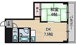 メゾン江坂[508号室]の間取り