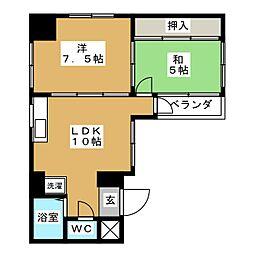 菱川ビル[3階]の間取り