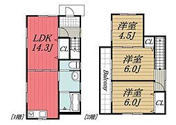 [一戸建] 千葉県市原市八幡 の賃貸【/】の間取り