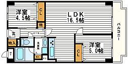 松屋町グランドハイツ[9階]の間取り