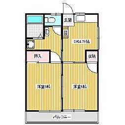 マンション清水田[1階]の間取り