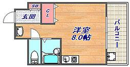 ナカタカナモノビル[509号室]の間取り