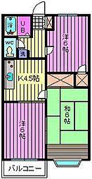 メゾンレックス[203号室]の間取り
