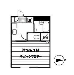 メゾンK[101号室]の間取り