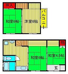[一戸建] 千葉県柏市逆井3丁目 の賃貸【/】の間取り