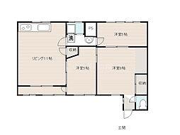 香川県高松市福岡町3丁目の賃貸マンションの間取り