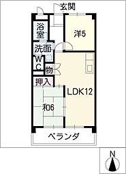 サニーハイツKITO[1階]の間取り