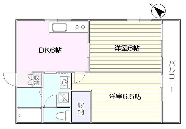 ビクトワール西新宿[105号室]の間取り