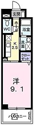 JR山陽本線 舞子駅 徒歩9分の賃貸マンション 1階1Kの間取り