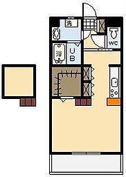 (新築)神宮外苑 西棟[202号室]の間取り