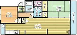 プレジデントタカヤ1[4階]の間取り