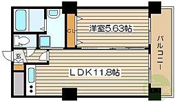 ノルデンタワー新大阪プレミアム 14階1LDKの間取り