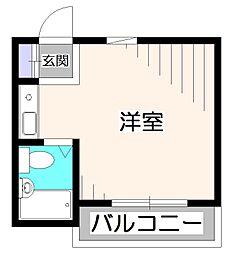 シャルマンK[2階]の間取り