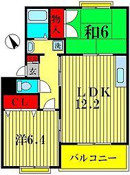 サンパレス横須賀[3階]の間取り