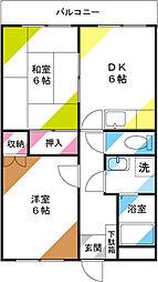 第2ヨシタケビル[202号室]の間取り