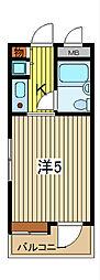 ライオンズマンション川口並木第2[6階]の間取り