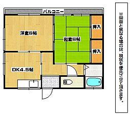 重井荘[1階]の間取り