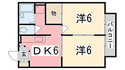 メゾンK・C田寺[2階]の間取り