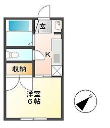 南君塚ハイツ[2階]の間取り