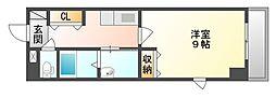 岡山県倉敷市新倉敷駅前3丁目の賃貸マンションの間取り