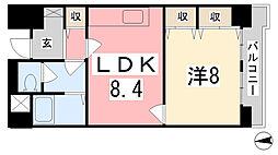 兵庫県姫路市広畑区本町2丁目の賃貸マンションの間取り