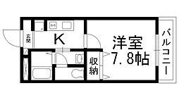 コンフォール深田[0300号室]の間取り