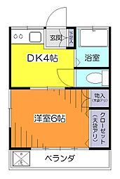 コーポ清陵[2階]の間取り