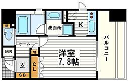 リーガル南船場Ⅱ[14階]の間取り