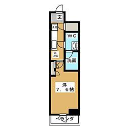HY´S亀戸 9階1Kの間取り