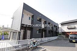 岡山県岡山市北区旭町の賃貸アパートの外観