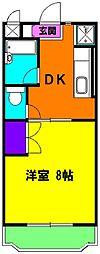 静岡県浜松市東区長鶴町の賃貸マンションの間取り