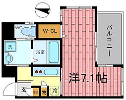 W.O.B.SHINKOBE[-1階]の間取り