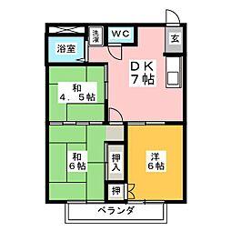 シティハイツ鈴木[2階]の間取り