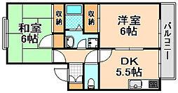 兵庫県伊丹市美鈴町4丁目の賃貸アパートの間取り