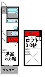 エムビル香椎駅東IV[2階]の間取り