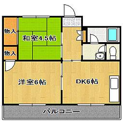 サンコーポ[2階]の間取り