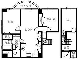 アーバンプラザイースト[2階]の間取り