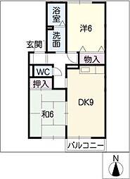 フォーラムワーゴII[2階]の間取り