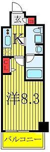 間取り,1K,面積25.62m2,賃料7.9万円,東武東上線 東武練馬駅 徒歩10分,都営三田線 西台駅 徒歩25分,東京都板橋区徳丸1丁目