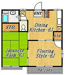 クーリエ21[2階]の間取り